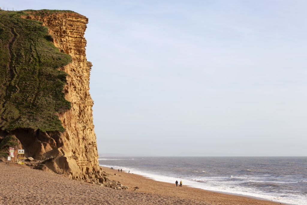 East Cliffs at West Bay on the Dorset Coast