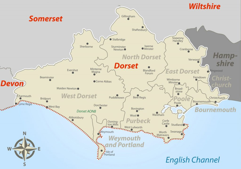 Dorset Jurassic Coast Map