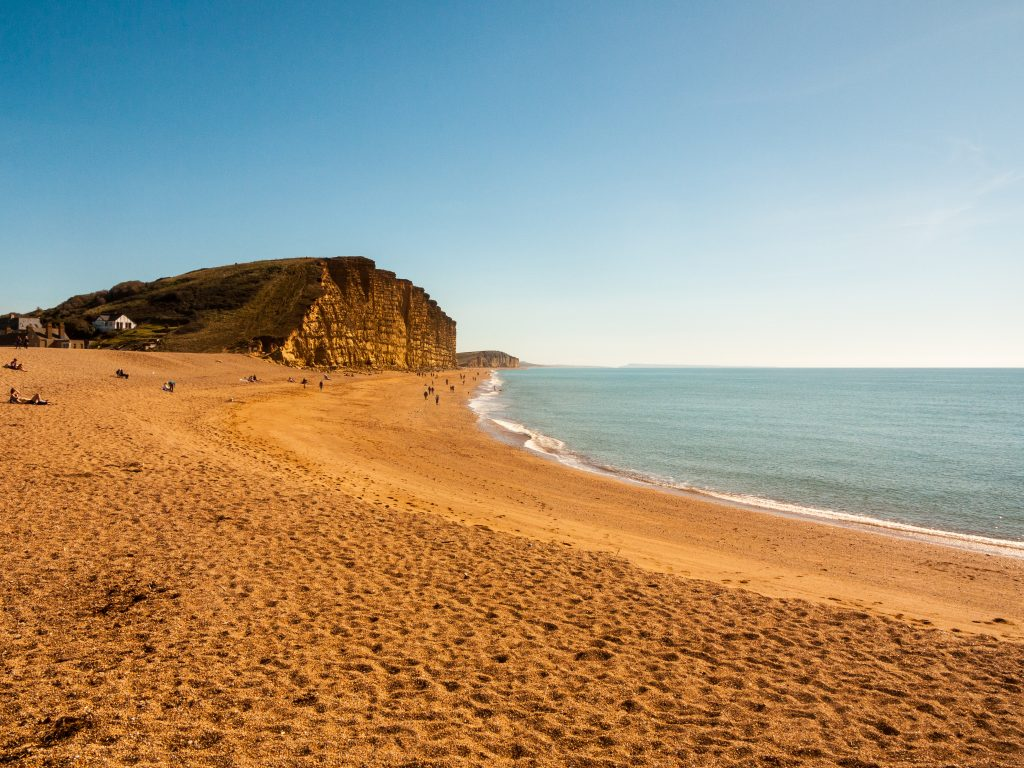 West Bay near Bridport is the starting point for one of the loveliest Dorset coast walks