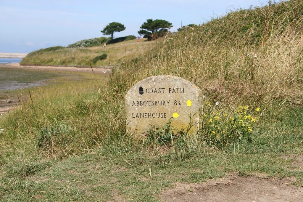 Coast Path Walk Sign Abbotsbury