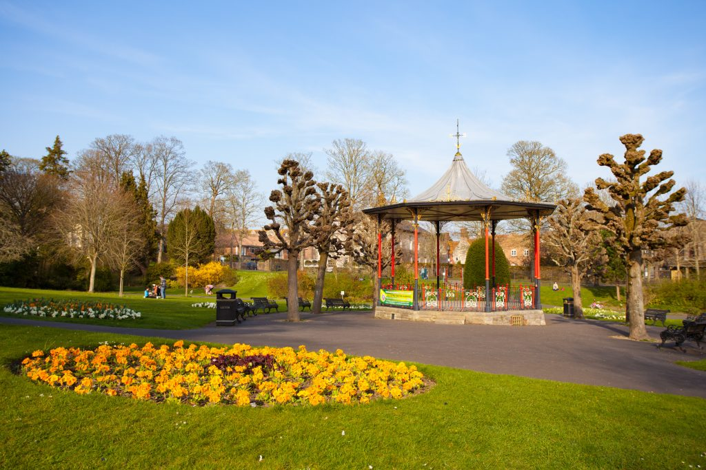 The Bandstand in Borough Gardens In Dorchester