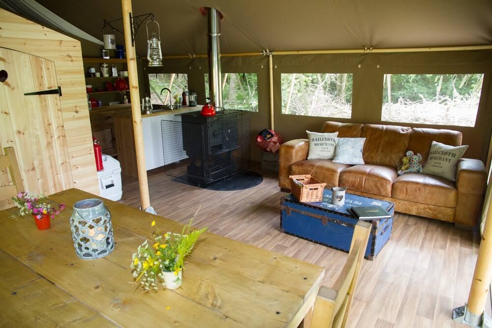 Safari Tent Swanage Dairy Farm Dorset Glamping