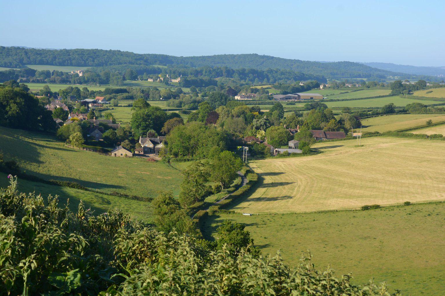 Sherborne landscape and castles in North Dorset