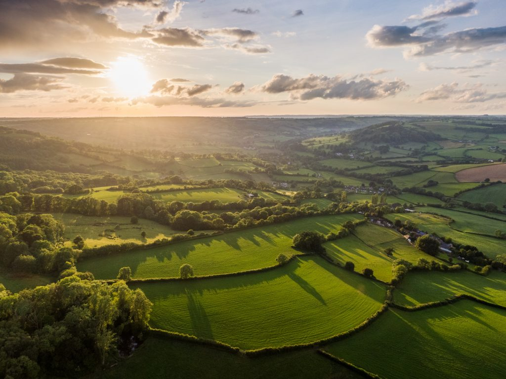 25 Photos of Dorset Countryside AONB sunset aerial