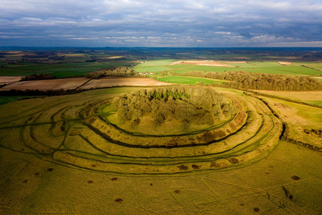 Badbury Rings Iron Age Hillfort near Wimborne Dorset
