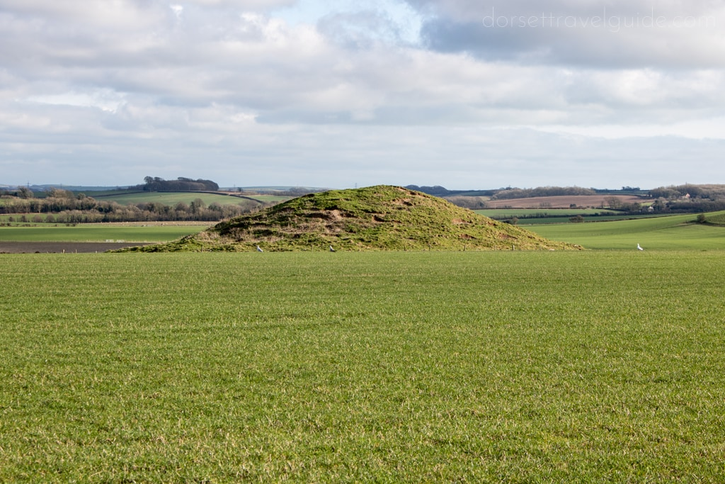 Burial Mound on Maiden Castle Walk