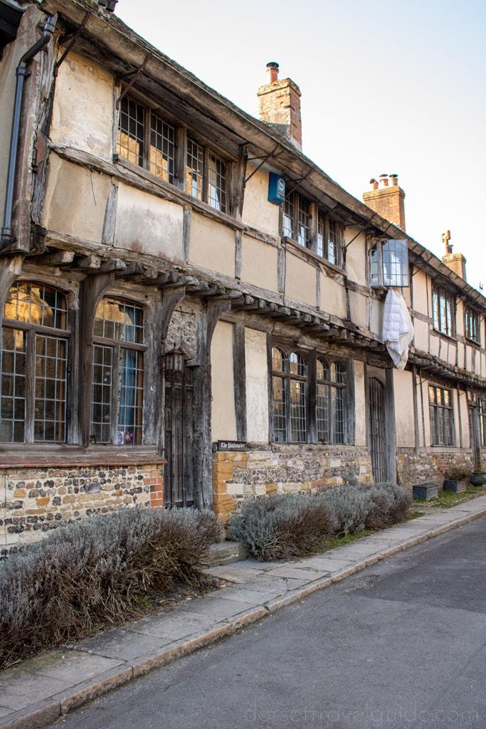 Abbey street Cerne Abbas village Dorset
