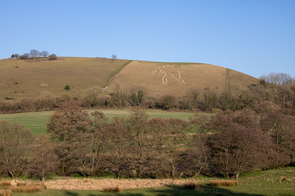 Cerne Abbas Giant seen from the Viewpoint