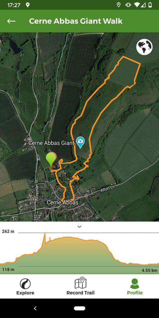 Cerne Abbas Walk Map