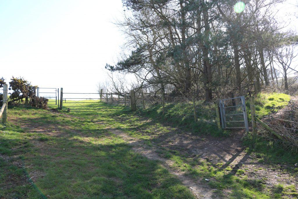 Gate into Durdle Door Caravan Park