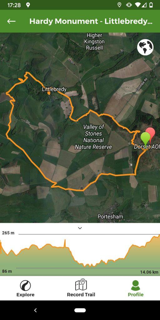 Hardy Monument Littlebredy Walk Map