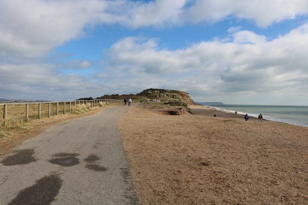 Hengistbury Head beach Bournemouth Dorset