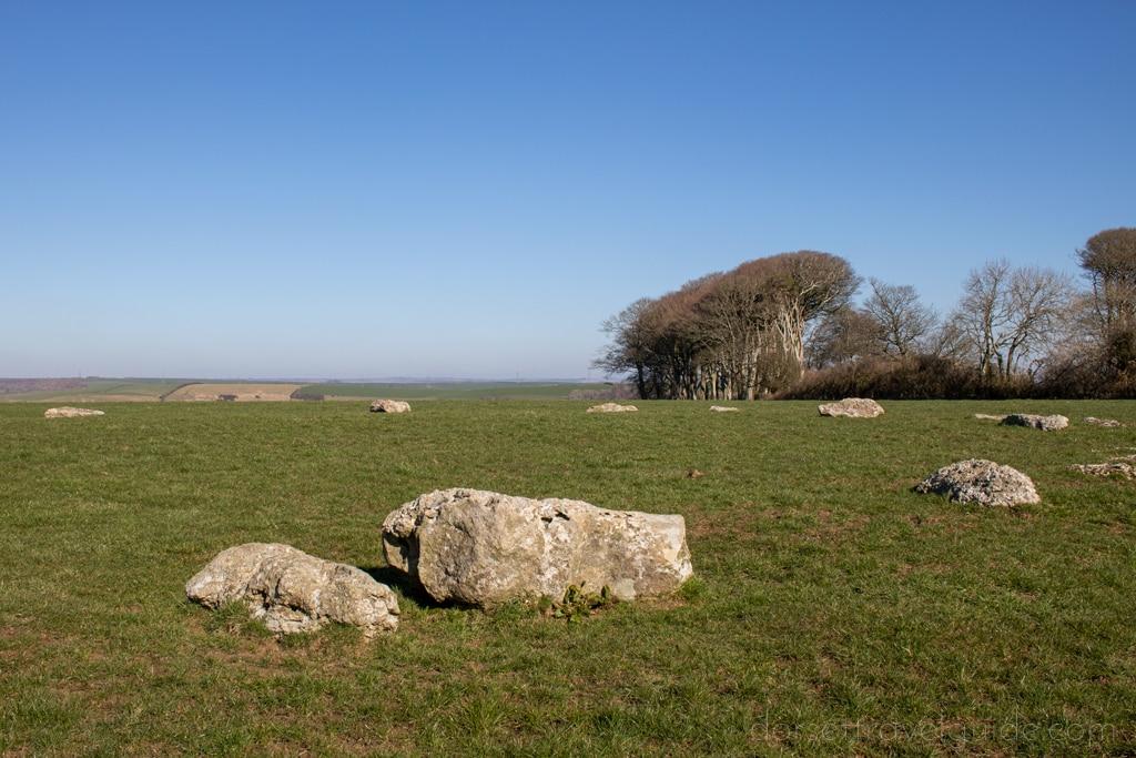 Neolithic stone circle in a field near Dorchester Dorset