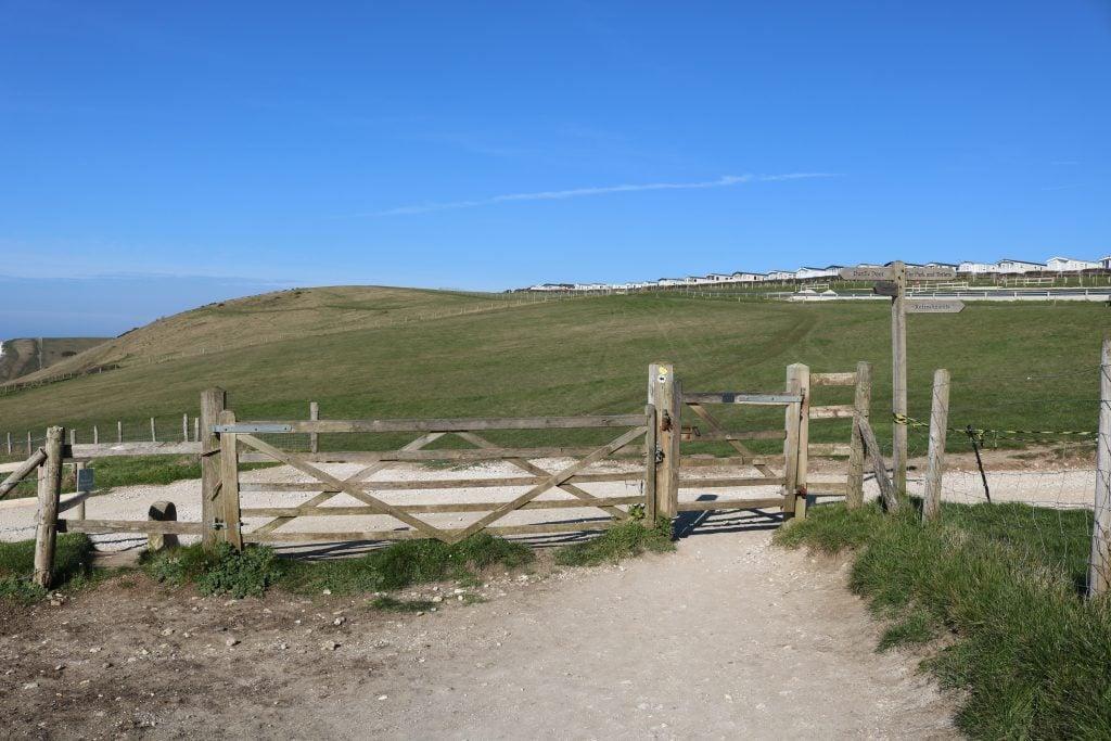 Gate on the South West Coast Path
