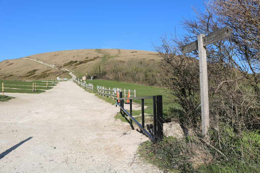South West Coast Path at Lulworth Cove
