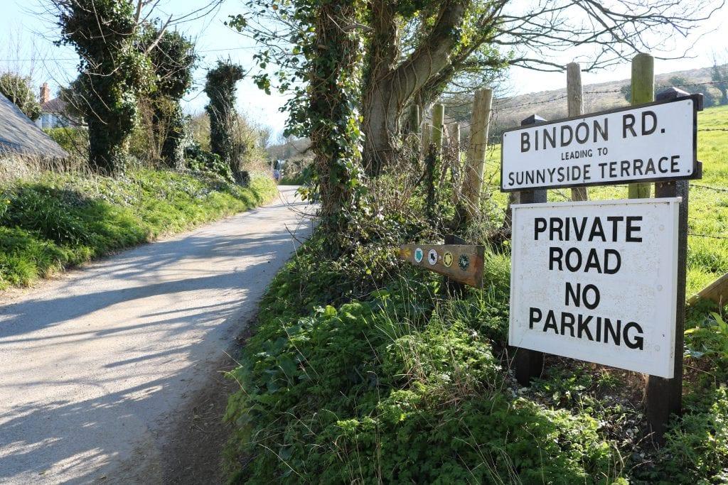 Bindon Road west Lulworth