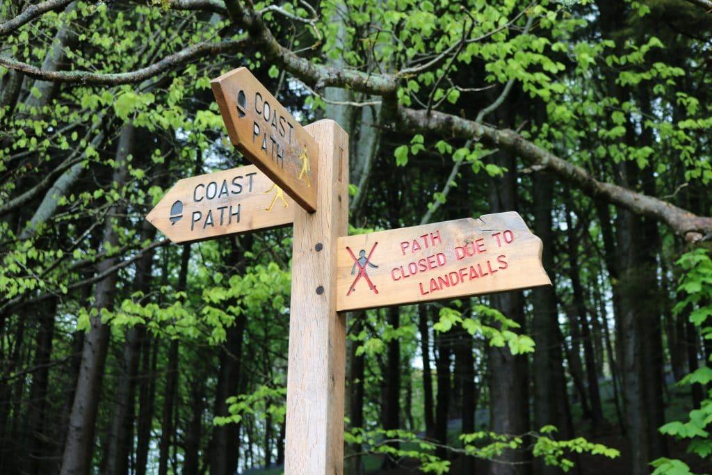 South West Coast Path Closed Diversion
