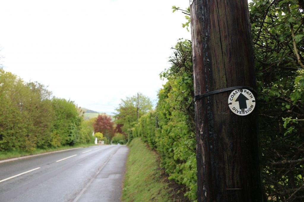 South West Coast Path Diversion Waymarker