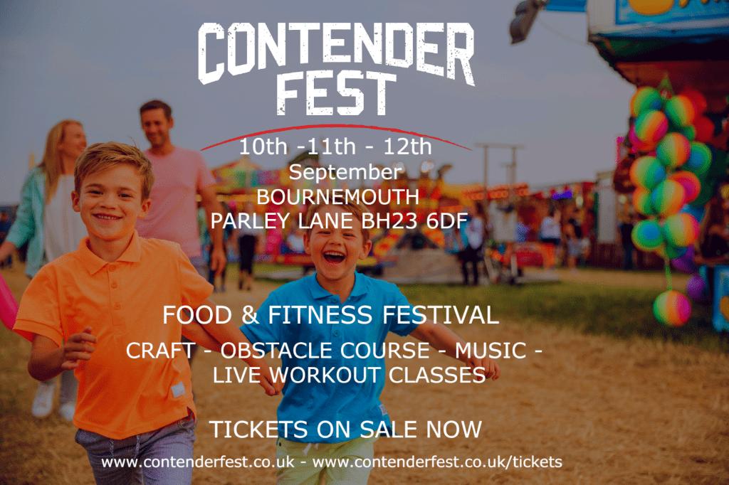 Poster for Contender Fest Fitness Festival Bournemouth