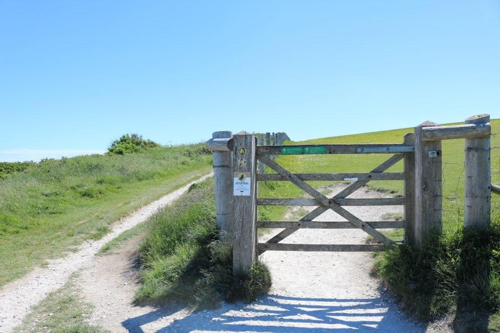 Gate on Old Harry Rocks Walk Studland