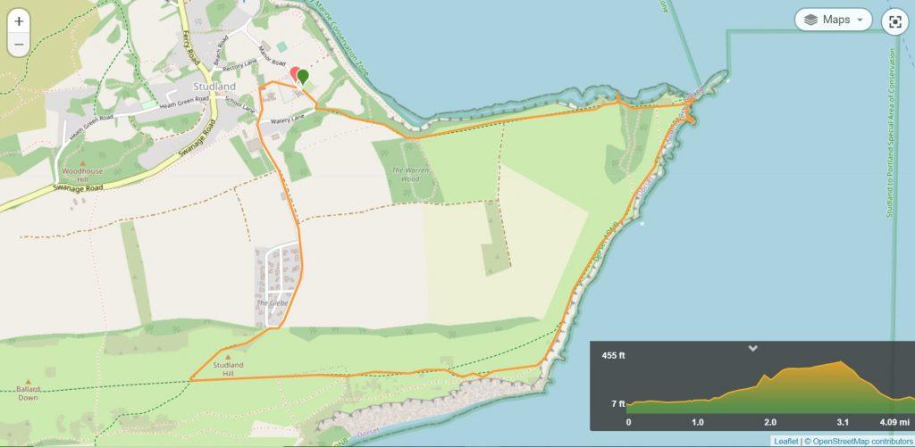 Old Harry Rocks Walk Map