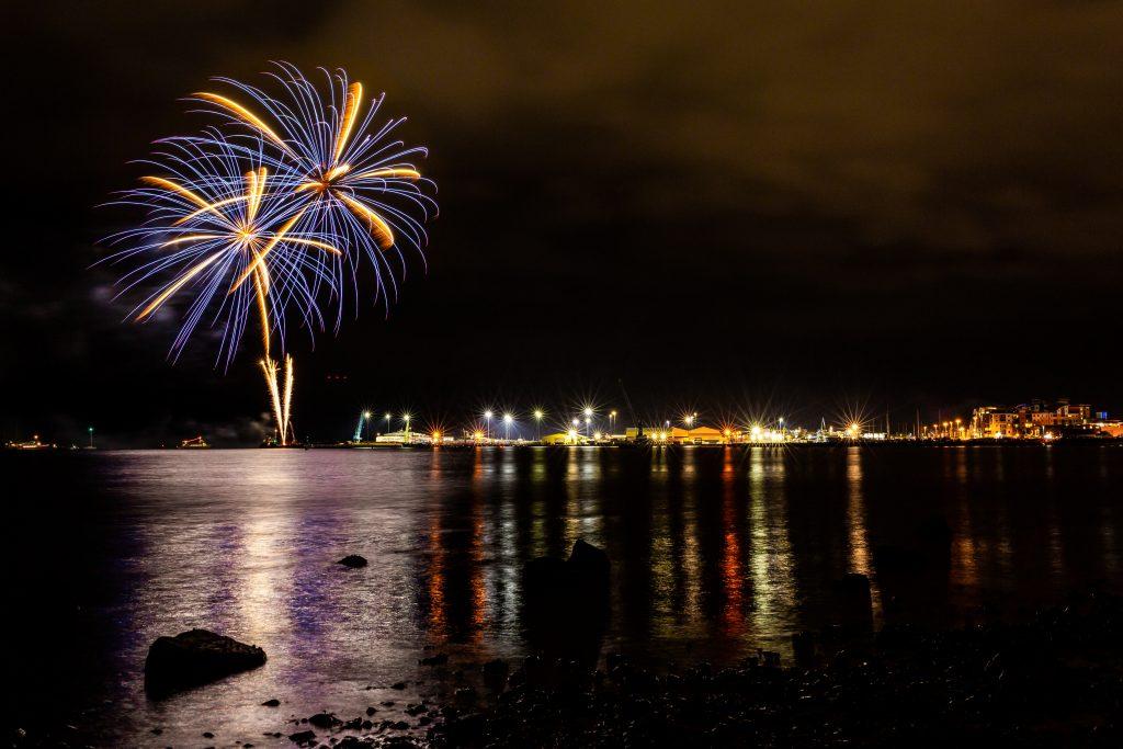 Bonfire Night on Poole Quay